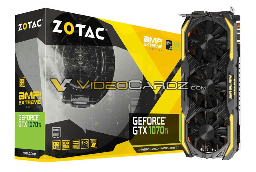 Zotac GeForce GTX 1070 Ti AMP! – новая серия видеокарт
